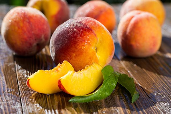 Peaches ready for snacking